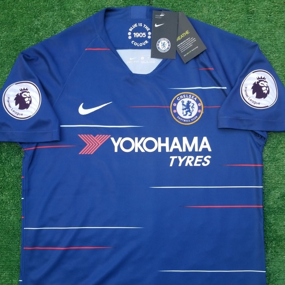 best sneakers 8e012 760eb 2018/19 Chelsea FC soccer jersey Hazard NWT